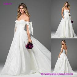 Le taffetas soyeux transforme en robe de mariage luxueuse rêveuse de robe de bille