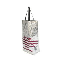 Não promocionais saco tecido logotipo personalizado Non-Woven saco de tecido Laser película metálica No-Woven Sacola grande