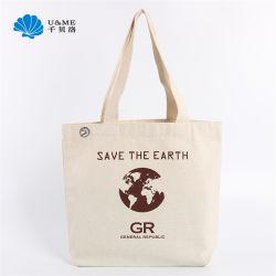 Commerce de gros sacs à main personnalisé cadeau d'épicerie Lady Shopping fourre-tout sac en toile de coton