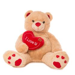 Grand ours en peluche La Saint Valentin avec de gros de jouets en peluche doux Coeur