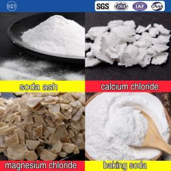 Os fabricantes de produtos químicos inorgânicos Industrial de carbonato de sódio e cloreto de cálcio/bicarbonato de sódio /cloreto de magnésio