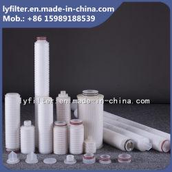 0,1/0.2/0.4/1/5/10 micrones plisado cartucho de filtro de agua para la industria de alimentos y bebidas