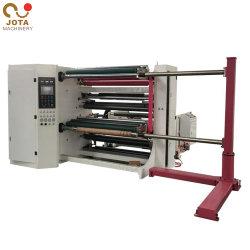 Du papier adhésif trancheuse rembobineur de refendage de papier autocollant de la machinerie