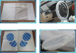 Coche de plástico desechable Alfombra de pie para el lavado de coches y la reparación de automóviles