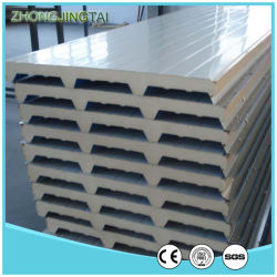 La energía y compacta de acero de color de EPS/lana de roca/paneles sándwich de lana de vidrio para almacenamiento