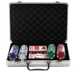 携帯用アルミ合金チップ箱のポーカー用のチップボックス