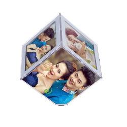 Photo élégant cube cube en plexiglas acrylique clair photo