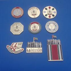 2017 Национальный день ОАЭ Новые Подарки магнит металлические значки штифты Brooch, 46 лет Национальный день ОАЭ петличный штифты эмблемы