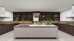Современная версия деревянной кухни бар кабинета министров кабинета