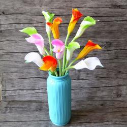 Künstliche PU blüht en gros, natürliches Noten-Rosakünstliche Calla-Lilien