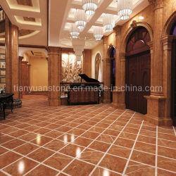 Mattonelle di bordatura di marmo rosse Polished di Rosso Alicante per il pavimento di marmo ed il disegno interno