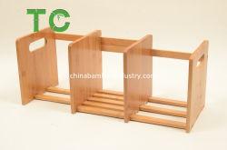 Fabrik-Preis-expandierbares Bambustischplattenbücherregal, Bücherregal-Organisator-Tabletop Bücherregal für Büro-Ausgangstischplatte