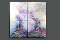 Arte della tela di canapa della pittura a olio dell'estratto della decorazione della parete dell'hotel da vendere