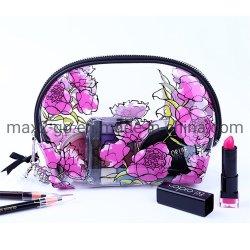 Custom New Travel saco cosmético, Mini-Fashion Flower Imprimir Limpar Makeup Bag, sacos de cosméticos novos de alta qualidade