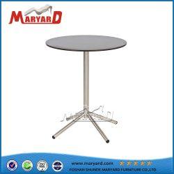 Cafetería simple de acero inoxidable de Diseño de tabla Mesa redonda