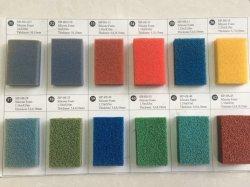 Abra a folha de borracha esponja de Silicone Celular, folha de espuma de borracha de silicone com azul, vermelho e amarelo na boa venda