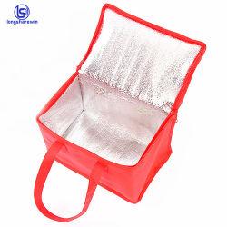 Refroidisseur de glace Non-Woven personnalisé sac isotherme Aluminium isolé PP non tissé pliable doux pour le déjeuner pique-nique du refroidisseur