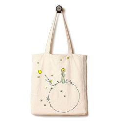 キャンバスのトートバック、卸し売りカスタムロゴによって印刷される安く熱い販売の方法Ecoの友好的な綿織物の綿モスリンのさらさの自然なショッピング昇進のパッキングギフト袋