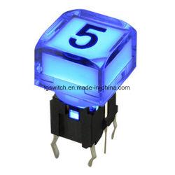 Аудио-Видео устройство 50Ма/12В постоянного тока светится кнопка переключателя на ощупь