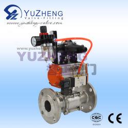 3PC Фланец шарового клапана с помощью пневматического привода и аксессуары