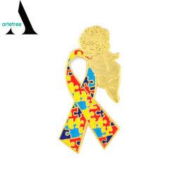 La Chine usine du ruban de sensibilisation de l'autisme Angel d'un insigne de la broche