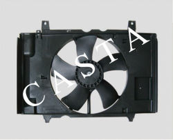 Grupo motoventilador de refrigeração do radiador automático para a Nissan tida 21481-ED508