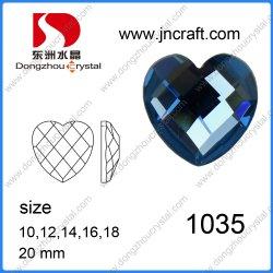 衣服Deorationのための10mm 12mmの中心の形の平背のガラス石