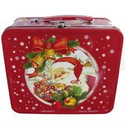 قصدير وجبة غداء قصدير صندوق لأنّ عيد ميلاد المسيح هبة