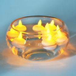 24ПК теплый Холодный белый светодиод Плавающие свечи с желтый мигающий