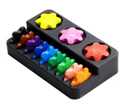 Para la educación Non-Toxic personalizado de seguridad de los niños coloreando Lápiz de Cera 3D.