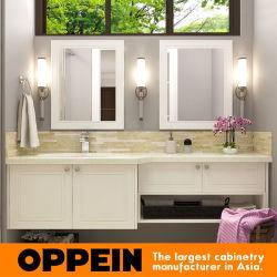 Moderner Weißlack Doppelspiegel Dresser Badezimmer Schrank Vanity
