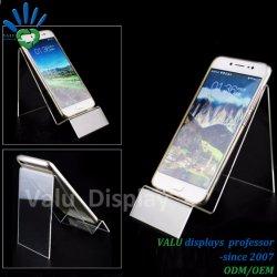 Desktop акриловый подставка для дисплея мобильного телефона владельца