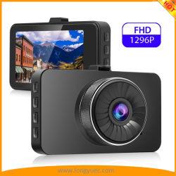 3inch Car DVR Câmera com tela IPS HD1296p de resolução