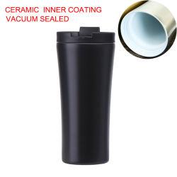Двойные стены кружки кофе из нержавеющей стали с внутренним покрытием вакуумный керамические кружки