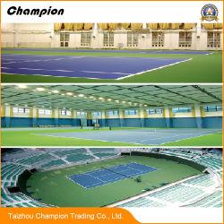 Estándar de PVC Suelos Suelos de bádminton Tribunal Deportivo; PVC pisos deportivos de Tenis de mesa Cancha de deportes multifuncional piso