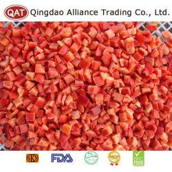Surgelés IQF poivron rouge coupé en dés de qualité supérieure