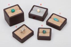 Schiocco Microfiber con la scatola di presentazione di cuoio dell'unità di elaborazione per i cassetti di pietra della visualizzazione dei monili del diamante
