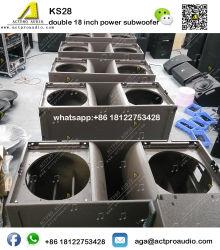 Kudo 선 배열 직업적인 오디오 Ks28 Sb28 두 배 18 인치 힘 베이스 직업적인 스피커 오디오 음향효과 작풍 Subwoofer