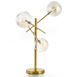Декоративное стекло Post-Modern Стационарный настольный светильник в золото на прикроватном мониторе, в гостиной