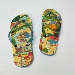 아이를 위한 도매 바닷가 플립 플롭 인쇄 로고 EVA 아이 슬리퍼 플립 플롭