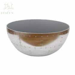 알루미늄 덮개를 가진 현대 사발 모양 저장 센터 커피용 탁자