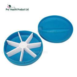 Forme ronde de 7 jours pilule en plastique de cas