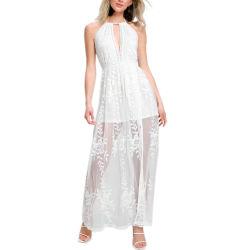 لباس عالة - يجعل سيدات حبيب بيضاء يطرق شريط شاطئ ثوب [مإكسي]