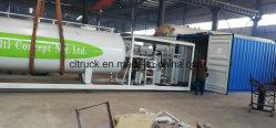 Mini 15000 litros de Gas de LNG Tanker Combinación de estación de llenado para la venta