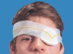 Les soins des plaies Sunmed- Eye Pad avec boucle en bonneterie, de premiers secours dressing, SMD-210701