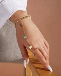 Новейшие разработки 2021 мелкие металлические бабочки пульта управления установить палец браслет женщин мода Ювелирные изделия