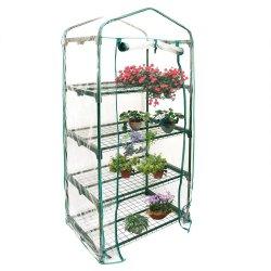 小型温室 4 棚の庭の温室