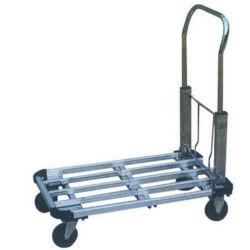 園芸工具のL形のFoldableトロリー100kgアルミニウムプラットホームの構造手のプラットホームのカート