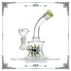 Hfy Green Devil Eye narguilé pomme de douche Perc barboteur la fumée de tabac pipe à eau verre