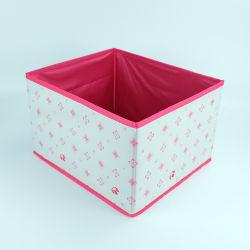 Cube de pliage de toile de polyester Tissu de stockage de boîte de chiffon de livre